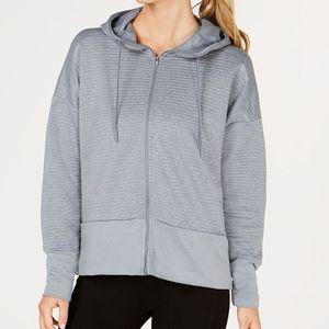 Nike Dri-Fit Gray Dry Logo Zip Training Hoodie XL